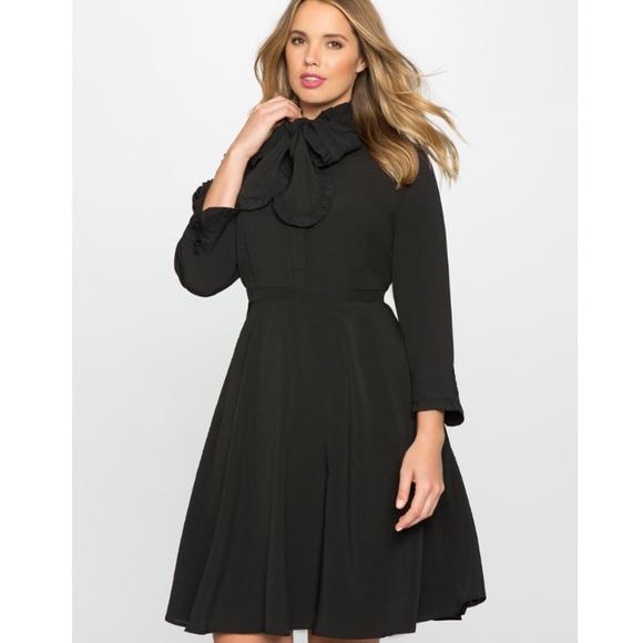 8229e341f2a5 Eloquii Dresses & Skirts - Eloquii Bow Tie Fit and Flare Shirt Dress Plus 28